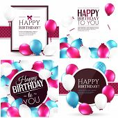 Set of colorful birthday cards.
