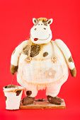 Soft Toy. The Cow With Empty Bucket