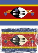Swaziland grunge flag. Vector illustration.