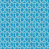 Teal And White Pi Symbol Repeat Pattern Background
