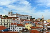 Alfama district at the east of Lisbon, Portugal