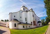 Saint Sophia Cathedral At Novgorod Kremlin. Cathedral Was Built Between 1045 And 1050