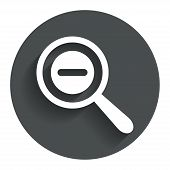 Magnifier glass sign icon. Zoom tool. Navigation