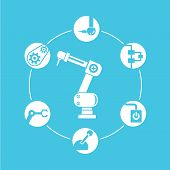robotic diagram, automation