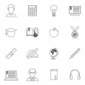 Education Outline Icons