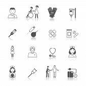 Nurse icon set