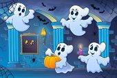 Haunted castle interior theme 6 - eps10 vector illustration.