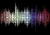 Illustration Of Multicolored Audio Spectrum