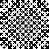 Seamless Monochrome Squares Pattern