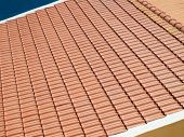 Newly laid clay tiled roof.