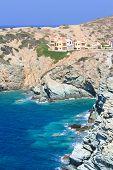 Rocky Sea Coast On Crete Island, Greece