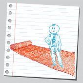 Businessman on red carpet