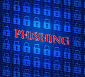 stock photo of hack  - Phishing Hacked Representing Hacking Theft And Security - JPG