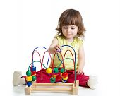 Pretty Kid With Educational Toy