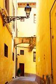 Old side street in Pistoia, Italy