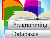 stock photo of byte  - Databases Programming Indicating Software Development And Byte - JPG