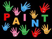 Kids Paint Indicates Colour Color And Youngster