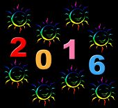 New Year Shows Two Thosand Sixteen And Celebrate