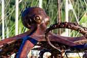 Octopus monument at Marmaris city embankment