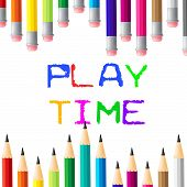 Play Time Indicates Toddlers Enjoyment And Youngster