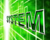System Technology Represents High-tech Systems And Digital