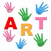 Kids Art Represents Children Youngster And Youngsters
