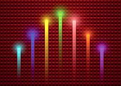 Lighting Stick On Abstract Background