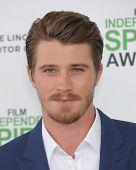 LOS ANGELES - MAR 01:  Garrett Hedlund arrives to the Film Independent Spirit Awards 2014  on March