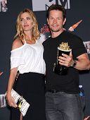 LOS ANGELES - APR 13:  Mark Wahlberg & Rhea Durham in the 2014 MTV Movie Awards - Press Room  on April 13, 2014 in Los Angeles, CA.