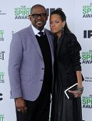 LOS ANGELES - MAR 01:  Forest Whitaker & Keisha Nash Whitaker arrives to the Film Independent Spirit