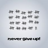 Never Give Up - Vector Design Background