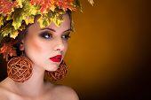 Autumn Fashion Portrait Of Beautiful Woman