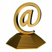 email icon statue