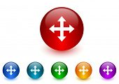 arrow internet icons colorful set