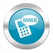 mms internet blue icon