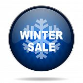 winter sale internet blue icon