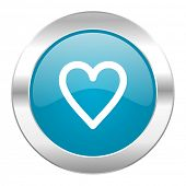 heart internet blue icon