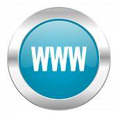 www internet blue icon