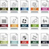 Iconos de la extensión de archivo