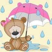 Bear Girl With Umbrella