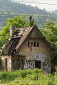 Abandoned Farmhouse In Zilina, Slovakia Under The Trees