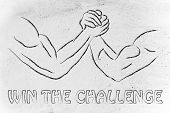 Trial Of Strength, Arm Wrestling Design: Win The Challenge