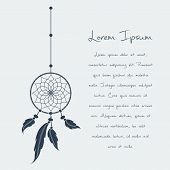 foto of dream-catcher  - vector dream catcher text - JPG