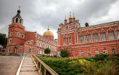 Iversky Monastery In Summer Cloudy Day In Samara, Russia