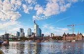 Frankfurt Am Maine Cityscape On A Sunny Day