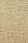 stock photo of canvas  - Natural textured vertical grunge burlap sackcloth hessian sack texture - JPG
