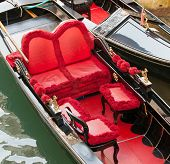 Typical Chairs Luxury In A Gondola In Venice