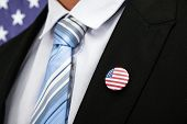 Businessman With American Badge