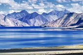 stock photo of jammu kashmir  - Mountains and Pangong tso  - JPG