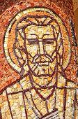 Mosaic Of Saint Mark Apostle On A Column